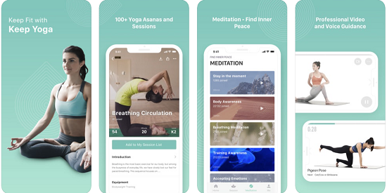 keep yoga app screenshot