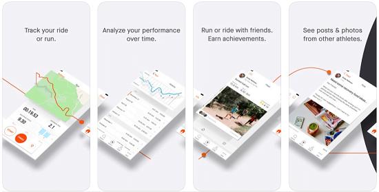 strava training app screenshot